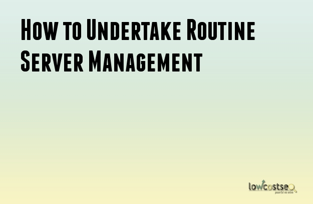 How to Undertake Routine Server Management