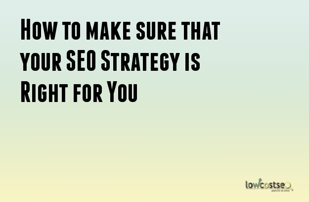 How to make sure that your SEO Strategy is Right for You