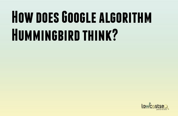 How does Google algorithm Hummingbird think?