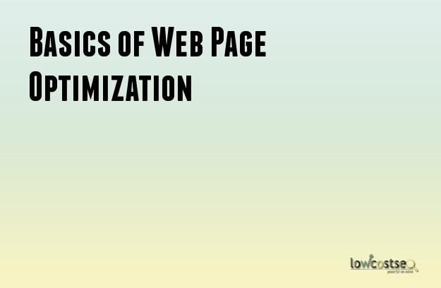 Basics of Web Page Optimization
