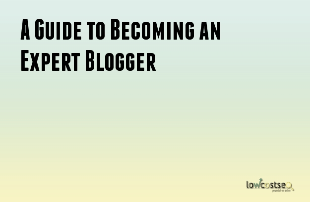 A Guide to Becoming an Expert Blogger