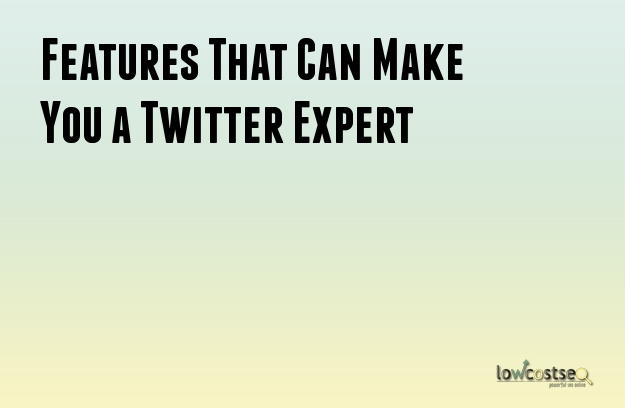 Features That Can Make You a Twitter Expert