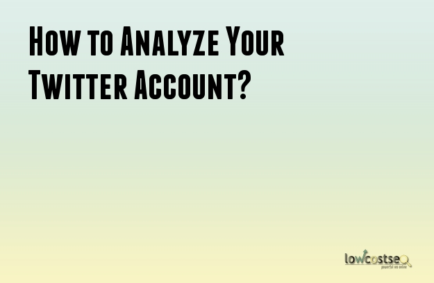 How to Analyze Your Twitter Account?