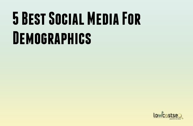 5 Best Social Media For Demographics