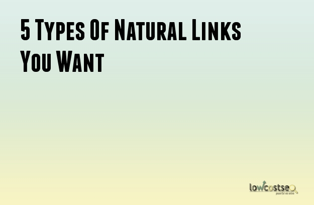 5 Types Of Natural Links You Want