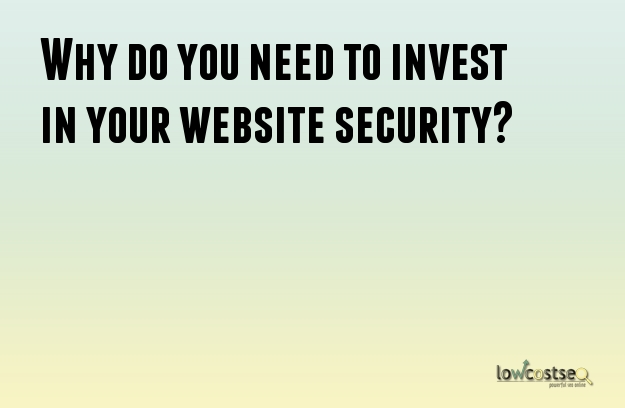 Why do you need to invest in your website security?