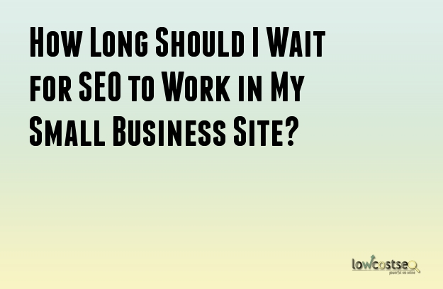 How Long Should I Wait for SEO to Work in My Small Business Site?