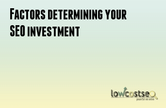 Factors determining your SEO investment