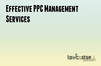 Effective PPC Management Services