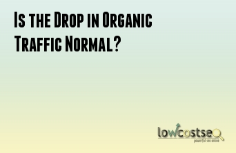 Is the Drop in Organic Traffic Normal?