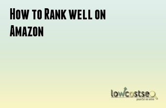How to Rank well on Amazon
