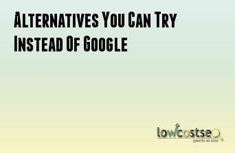 Alternatives You Can Try Instead Of Google