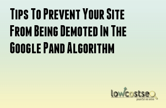 Tips To Prevent Your Site From Being Demoted In The Google Pand Algorithm