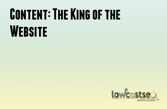 Content: The King of the Website