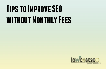 Tips to Improve SEO without Monthly Fees