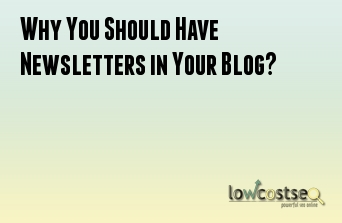 Why You Should Have Newsletters in Your Blog?