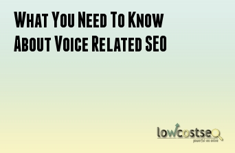 What You Need To Know About Voice Related SEO